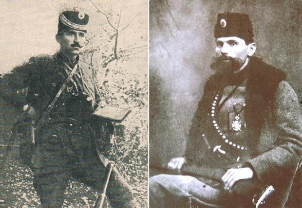 Vođe ustanka Vojinović i Milovanović