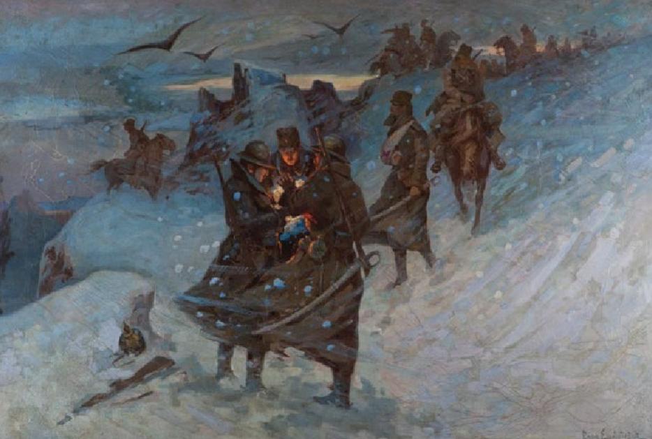 SRPSKA KONjICA (1917), ULjE NA PLATNU