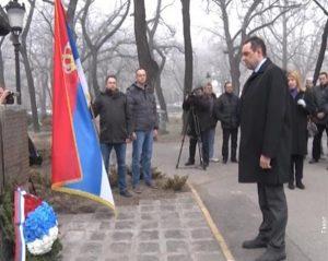 Svečana ceremonija polaganja venaca na rekonstruisani spomenik poginulima u ratovima devedesetih