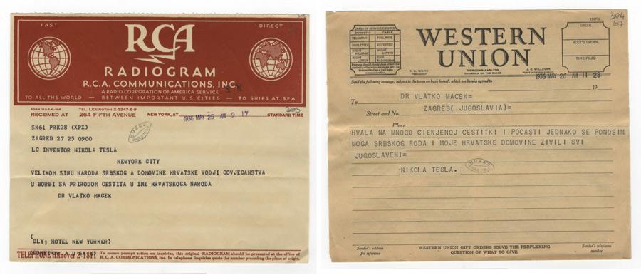 Tesla - telegrami