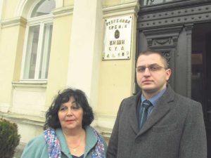 Vesna Kalabić i njen punomoćnik Goran Branković (Foto S. Ćirić)