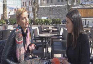 Milana Babić u razgovoru sa novinarkom (Izvor: Jutjub)