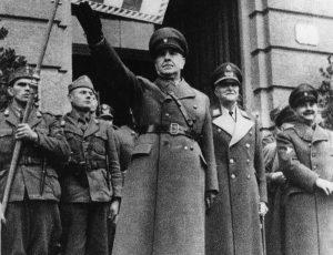 Ante Pavelić i Slavko Kvaternik (iza njega), foto Profimedia