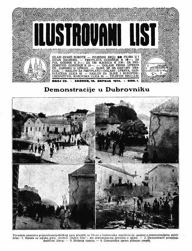 Demonstracije protiv Srba Dubrovčana, njihovo proterivanje i uzurpiranje grada.