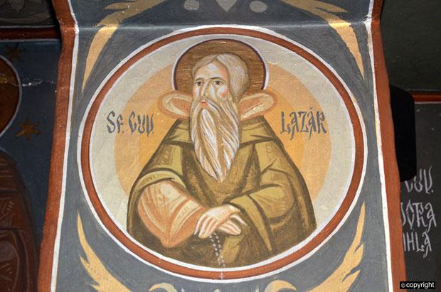 Freska kneza Lazara, u novom rumunskom manastiru Vodica kraj Oršave,Foto B. Subašić