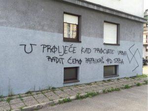 U Zagrebu ponovo osvanuli uznemirujući grafiti Foto: nezavisne novine