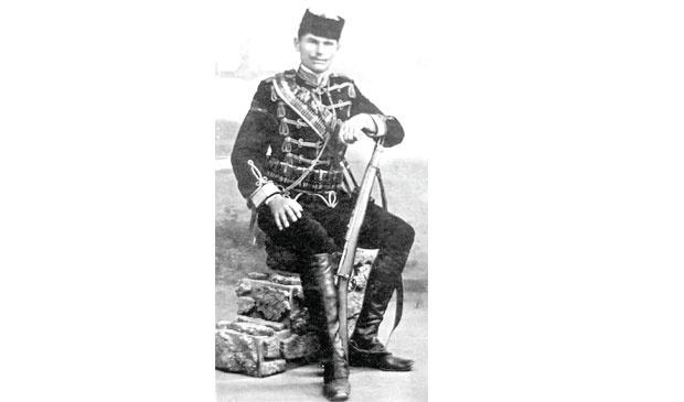 """ZATEČEN Kosta Milovanović Pećanac, vođa ustanka Fotografije preuzete iz knjige """"Toplički ustanak 1917."""" autora Novice Pešića"""