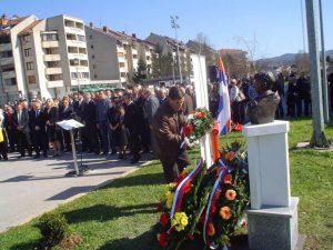Sa ranijih obeležavanja godišnjice pogibije Gostića Foto Lj. Đurić