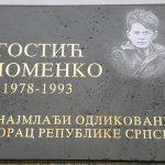 Spomen-ploča i tabla sa nazivom ulice, posvećene mladom heroju Vojske Republike Srpske Spomenku Gostiću, postavljene su danas u višegradskom naselju Garča u prisustvu brojnih građana