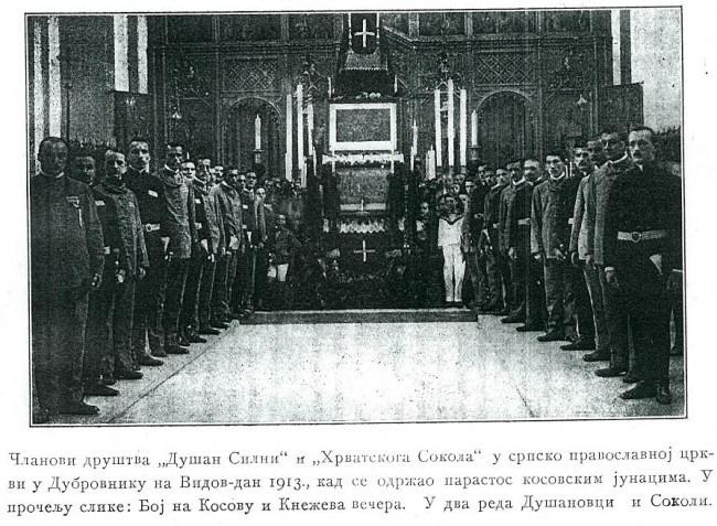 "Srpsko sokolsko društvo ""Dušan Silni"" u Dubrovniku 08. 03. 1914. izbor rukovodstva, foto: Vikipedija"