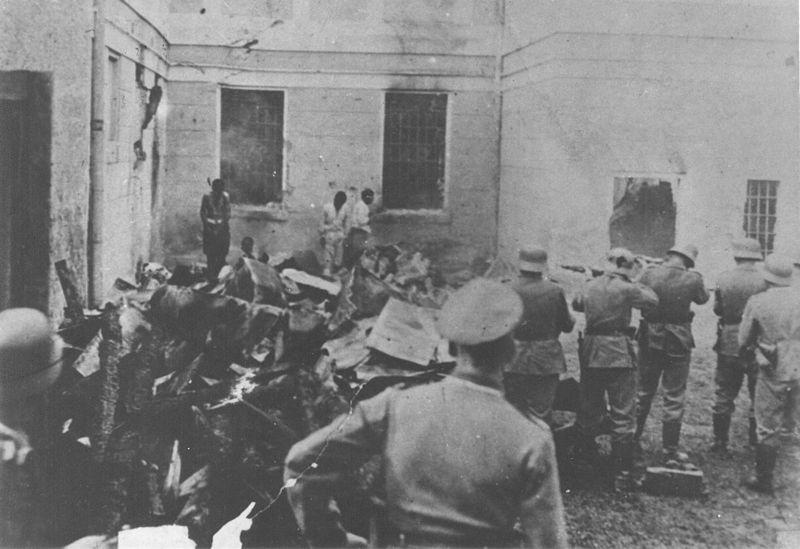 Streljanje omladine u logoru Sajmište, od strane nemačkih vojnika, 1943.