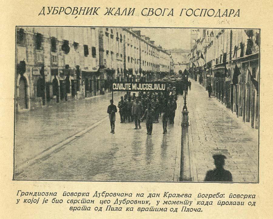 Sokoli u Dubrovniku na dan kraljeve sahrane