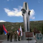 Na centralnom spomeniku služen pomen poginulim i preminulim borcima fočanskih brigada, te položeno cvijeće i prislužene svijeće.
