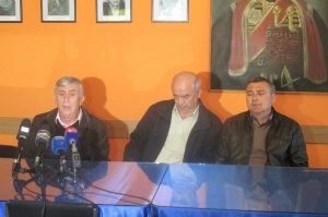 Конференција за штампу Градске борачке организације Бијељина.