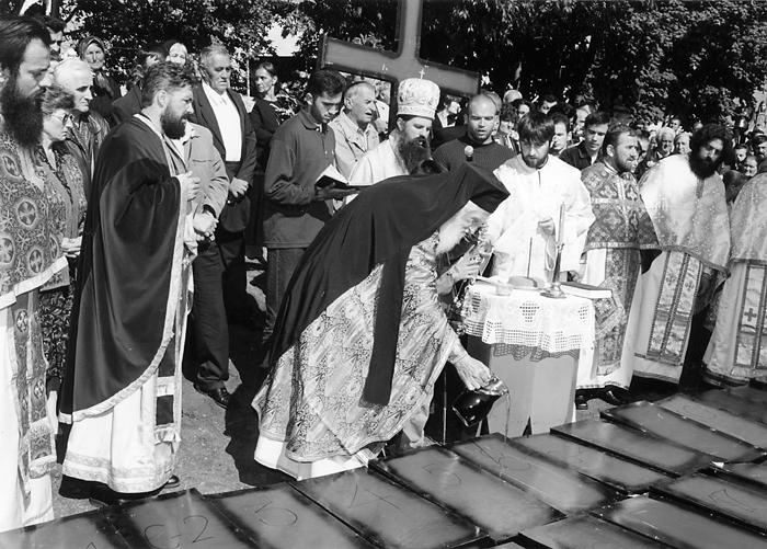 Vladika Zahumsko-hercegovački Grigorije i sveštenstvo eparhije služe zaupokojnu liturgiju