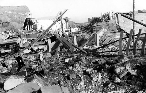 Детаљ рушевина: Грац, 6. априла 1941.