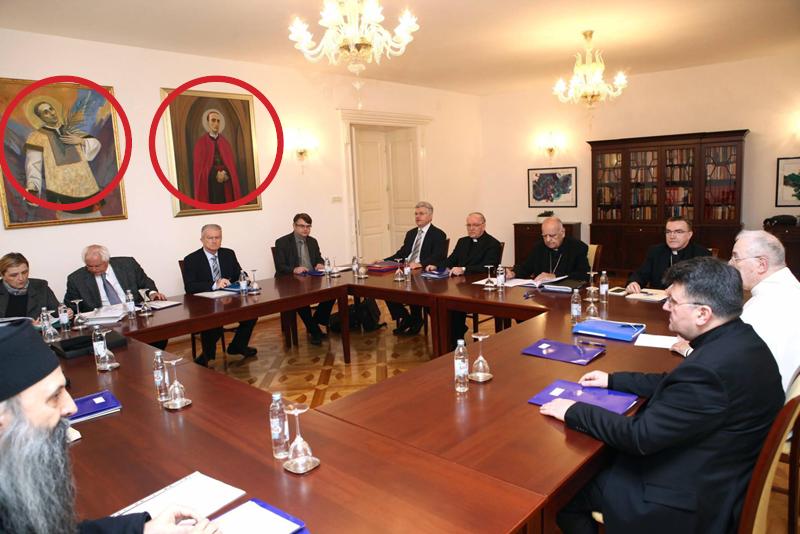 Alojzije Stepinac sa zida nadgleda rad Komisije (FOTO: Biskupija Požeška)