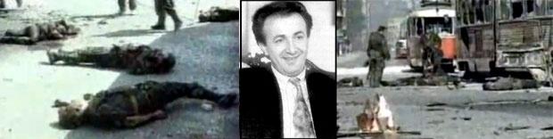 Tela ubijenih vojnika JNA, Alija Delimustafić , Konvoj napadnut sa svih strana