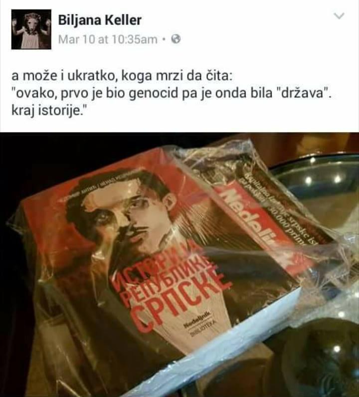 Fejsbuk status Biljane Srbljanović