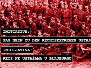 """Inicijativa - """"Recine ustašama u Blajburgu"""" Foto: facebook.com"""