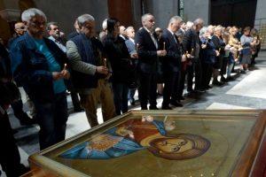 Parastos žrtvama iz zapadne Slavonije služen je u crkvi Svetog Marka u Beogradu (Foto Tanjug/Zoran Žestić)