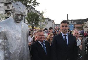 Plenković otkrio spomenik prvom hrvatskom predsedniku u Zaprešiću