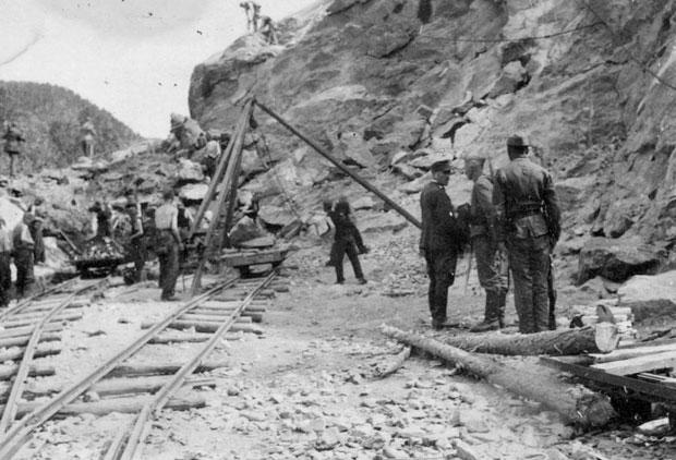 Srbi mučenici u logoru u Karasjoku, na prinudnom radu, Foto: Arhiva Narvik centra u Hordlendu