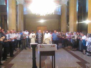 U Hramu Uspenja Presvete Bogorodice u Čajniču danas je obilježen Vidovdan, krsna slava Vojske Republike Srpske i Trećeg pješadijskog /Republika Srpska/ puka.