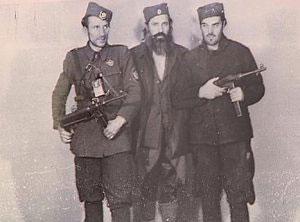 Kalabić sa oficirima OZNA; Falsifikat