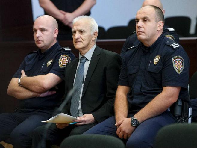 Dragan Vasiljkovi-kapetan Dragan-na suđenju u Splitu (Foto: Arhiv HANZA MEDIA)