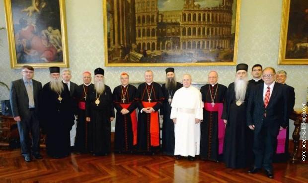 Mešovita katoličko-pravoslavna komisija (arhivska fotografija)