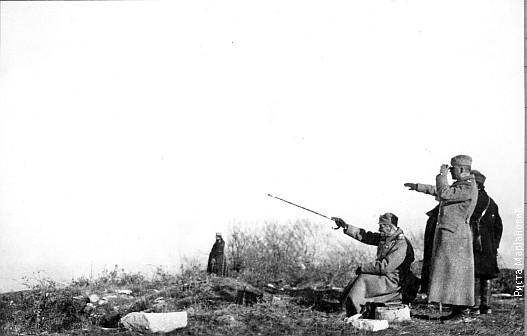 Kralj Petar na bojištu za vreme Prvog svetskog rata