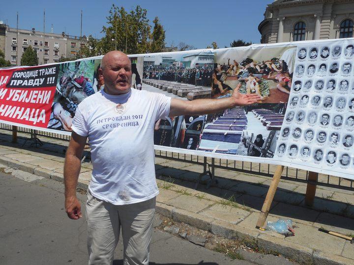 Predsjednik Udruženja porodica kidnapovanih i ubijenih na Kosovu i Metohiji Simo Spasić.