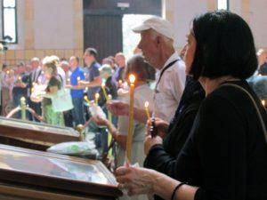 Beograd- U crkvi Svetog Marka služen parastos ubijenim Srbima Foto: SRNA