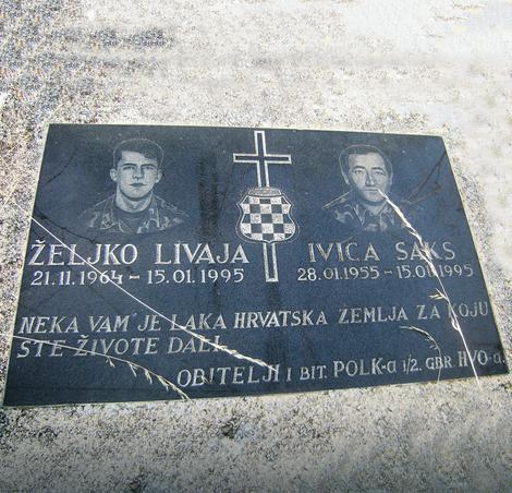 Spomen ploča za hrvatske vojnike Foto: R. Šegrt/RAS Srbija