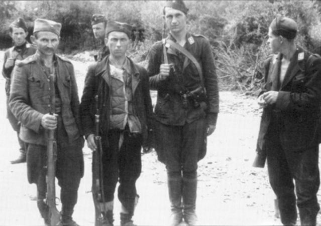 Партизани и усташе у БиХ 1942 (Црна легија и И Пролетерска)