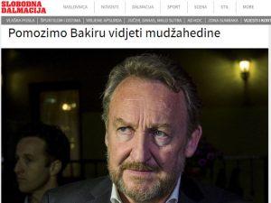 Slobodna Dalmacija o Izetbegoviću Foto: Screenshot