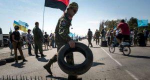 Ekstremisti blokiraju put, koji povezuje Ukrajinu sa Krimom (izvor: Politnavigator)