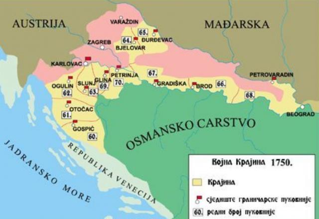 Vojna Krajina 1750.
