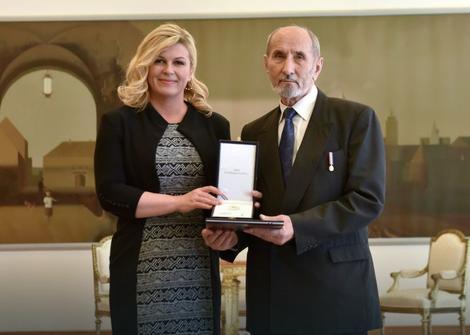 Foto: Ured predsjednice Republike Hrvatske / PromoKolinda Grabar Kitarović i Nikola Štedul