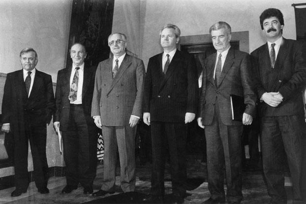 Kučan, Izetbegović, Tuđman, Milošević, Gligorov i Bulatović na samitu aprila 1991. , Foto Tanjug
