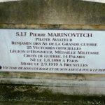 Плоча на надгробном споменику пилота П. Мартиновића