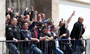 Raniji protest hrvatskih branitelja Foto Tanjug