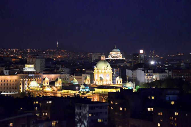 Beograd noću (Foto Petar Mirković)