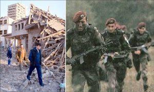 RAZARANjE Posledice bombardovanja Prištine / Pripadnici 63. padobranske na Košarama