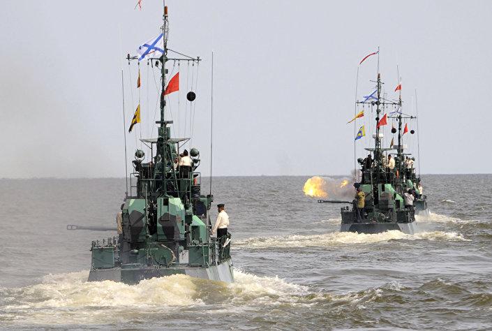 Brodovi Kaspijske flotile koji i danas pomalo liče na one koji su oslobodili Beograd. © SPUTNIK/ GRIGORIЙ SЫSOEV