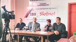 Mirko Bajić, drugi sleva, na konferenciji SBB-a (Foto: A. Isakov)