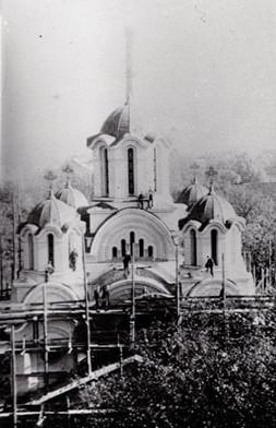 Završni radovi na crkvi Sv. Cara Lazara u Mariboru 1939. g.