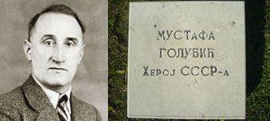 Mustafi Golubiću u Aleji boraca NOR-a na Novom groblju u Beogradu