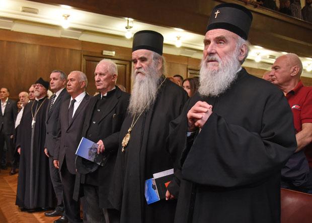 Među gostima i Patrijarh Irinej, mitropolit Amfilohije, akademik Matija Bećković, Foto A. Stevanović